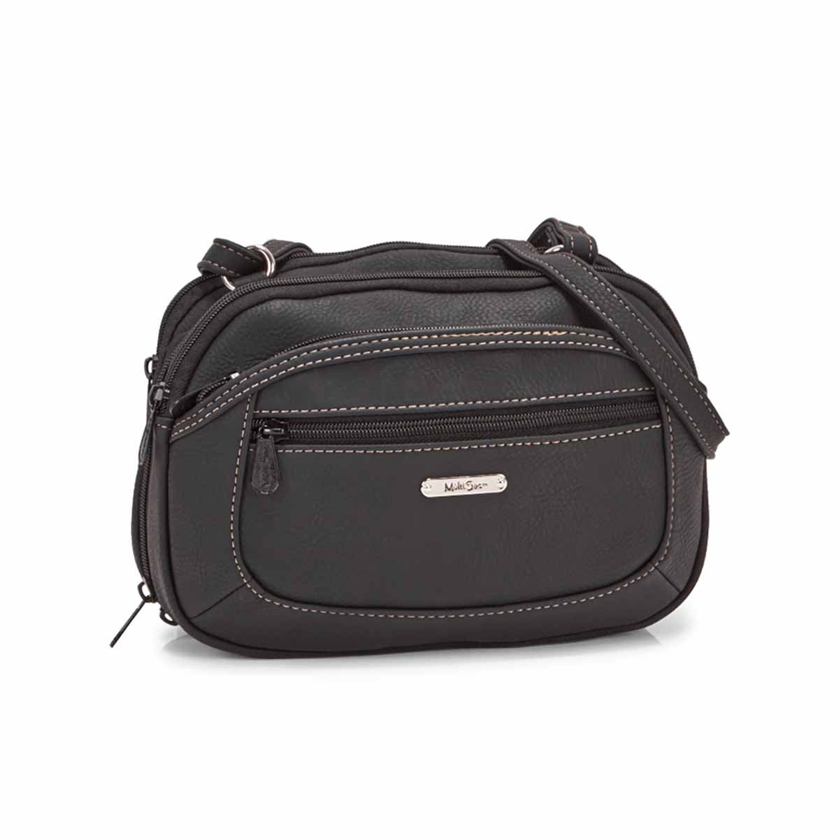 Women's TERABYTE black cross body bag