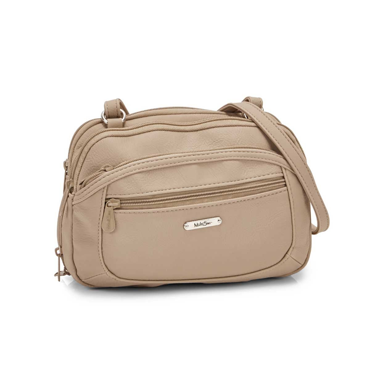 Women's TERABYTE taupe cross body bag