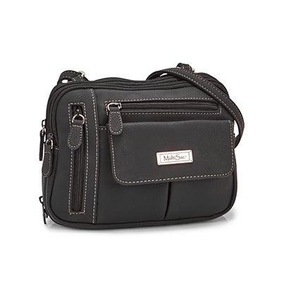 MultiSac Women's ZIPPY black cross body bag