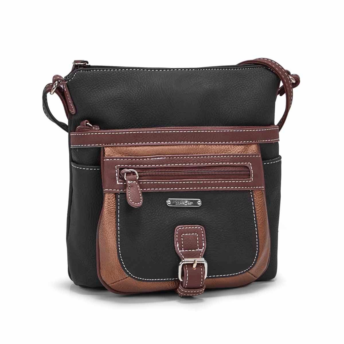 Women's MINI FLARE bronze/black crossbody bag