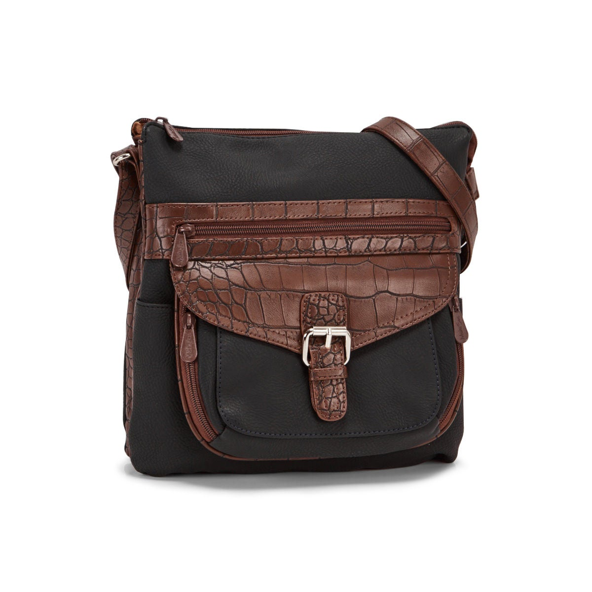 Lds Contour blk/choc cross body bag