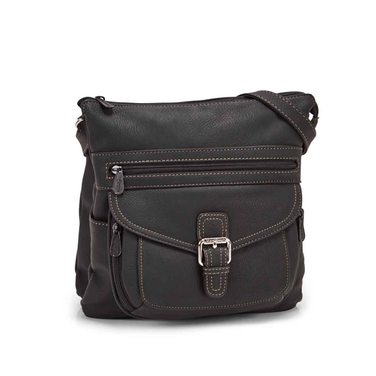 Women's CONTOUR black cross body bag