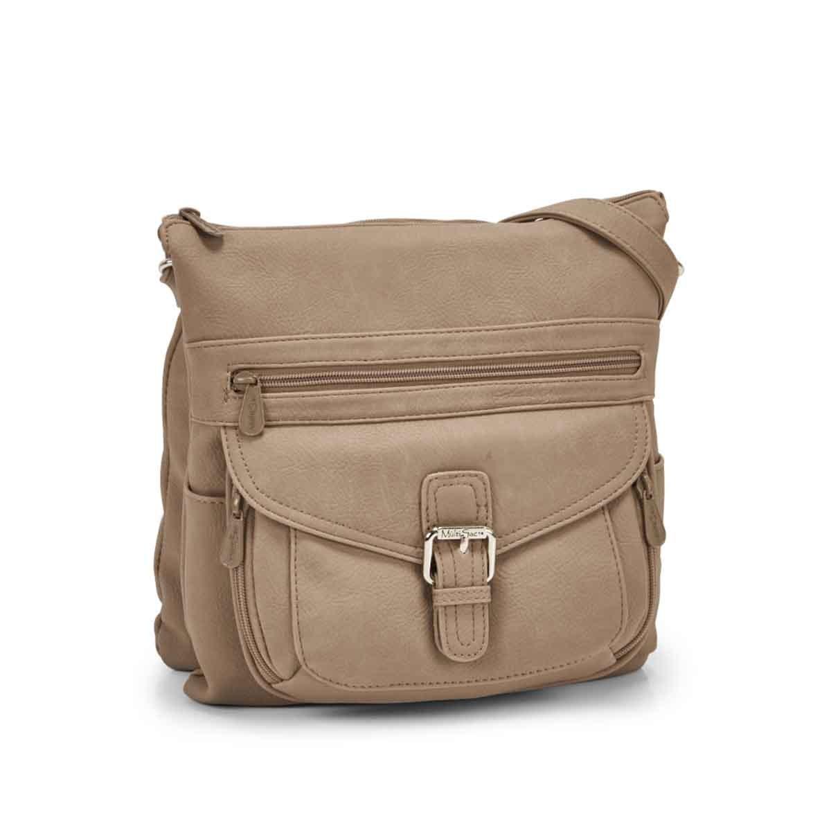 Women's CONTOUR taupe cross body bag