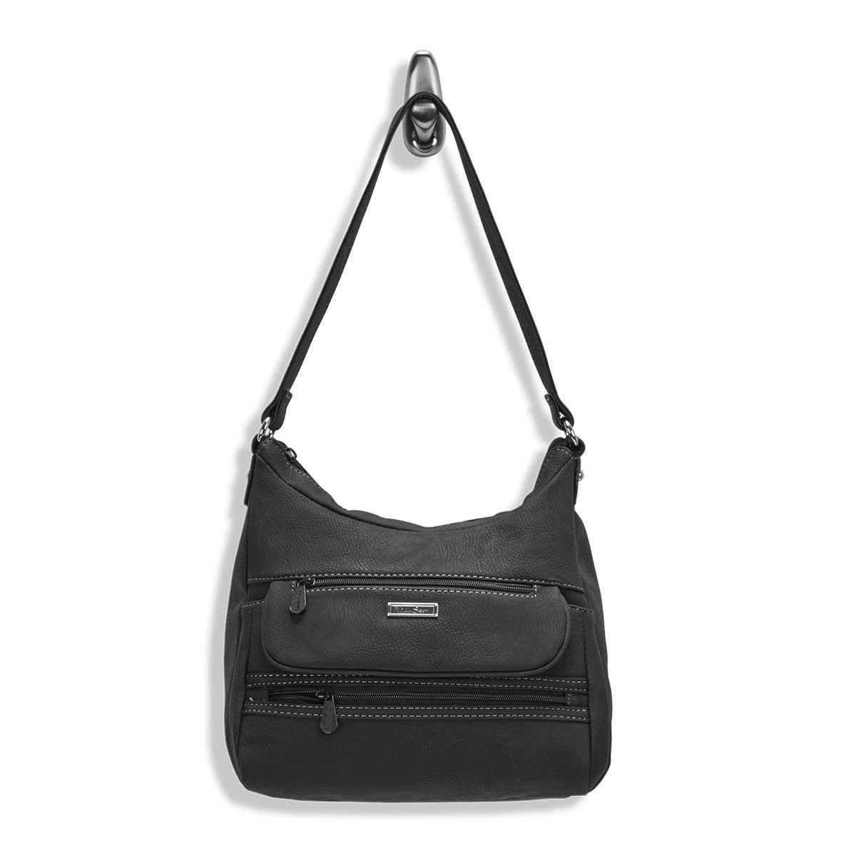 Lds Multi Element black hobo bag