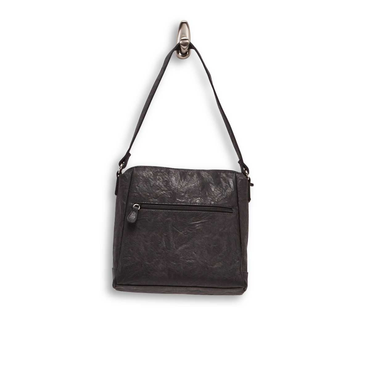 Lds Leslie black mid hobo bag