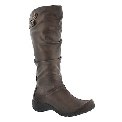 Hush Puppies Women's MILIEU brown tall dress boots