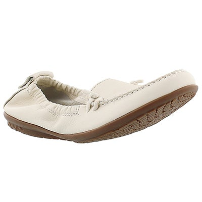 Lds Ceil Slip On off wht leather loafer