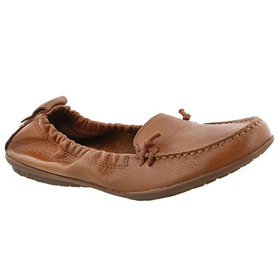 Lds Ceil Slip On tan leather loafer