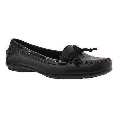 Lds Ceil Moc black slip on moccasin