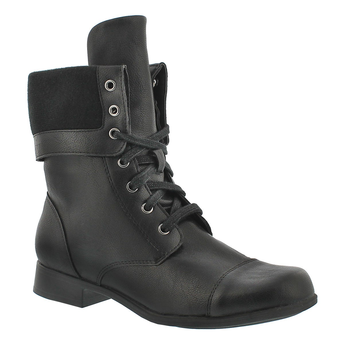 Fantastic  Rag Zoe Womens Faux Leather Black Military Amp Combat Boots Boots
