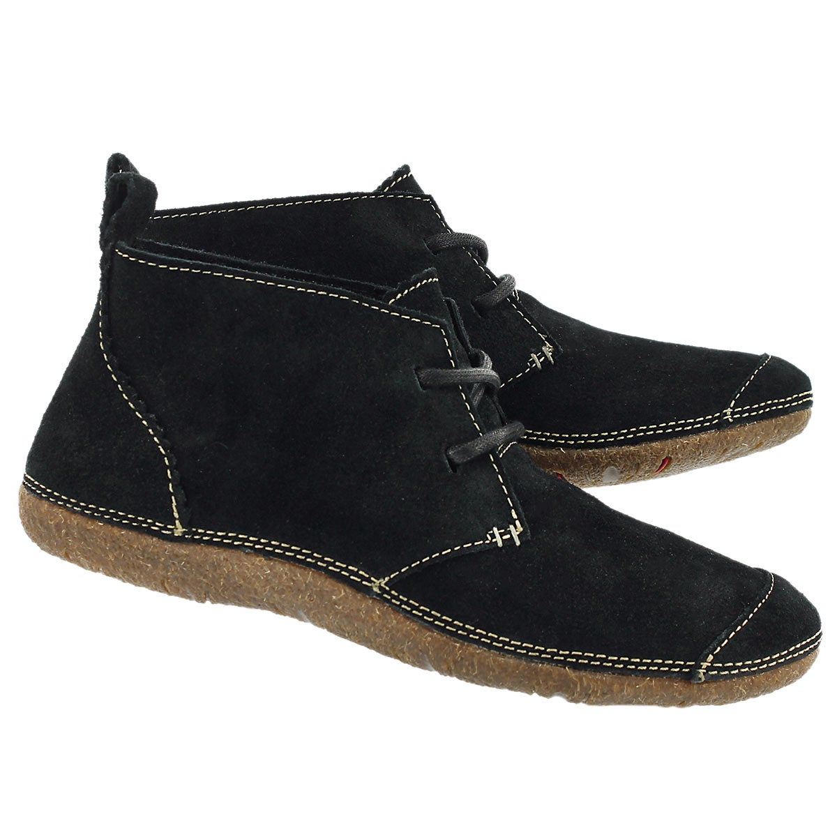 Lds Mindset black suede chukka boot