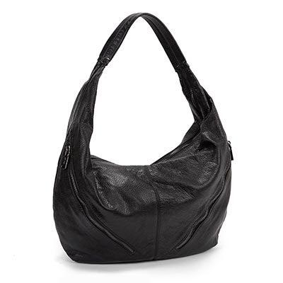 Co-Lab Women's 5101 THE WASH black zip up hobo bag