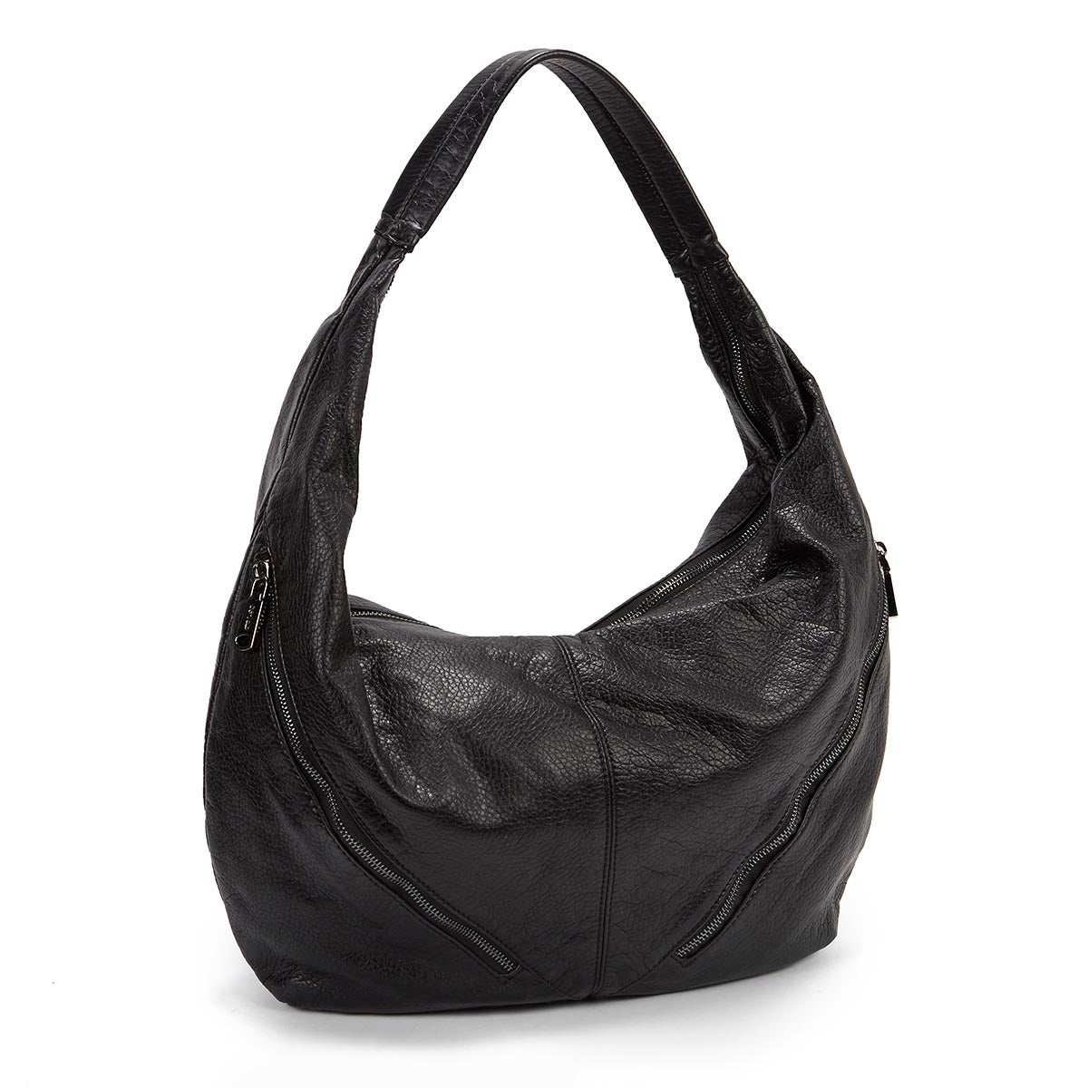 Lds The Wash black zip up hobo bag