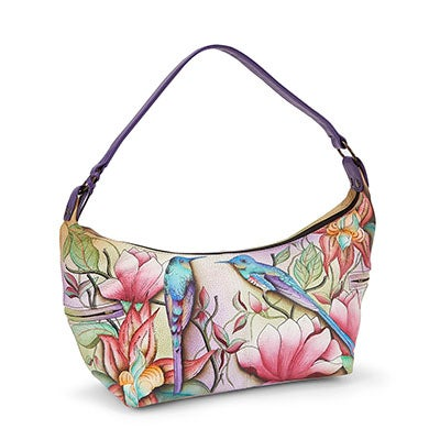 Printed leather Spring Passion hobo bag