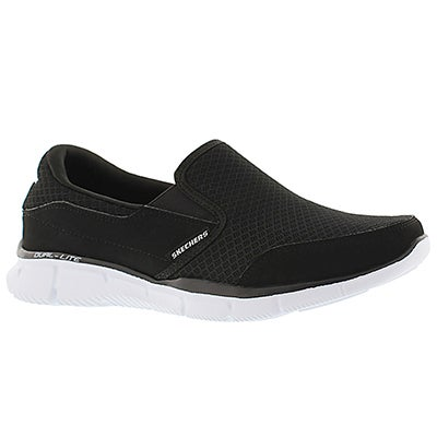 Skechers Men's PERSISTENT black/white slip on sneakers