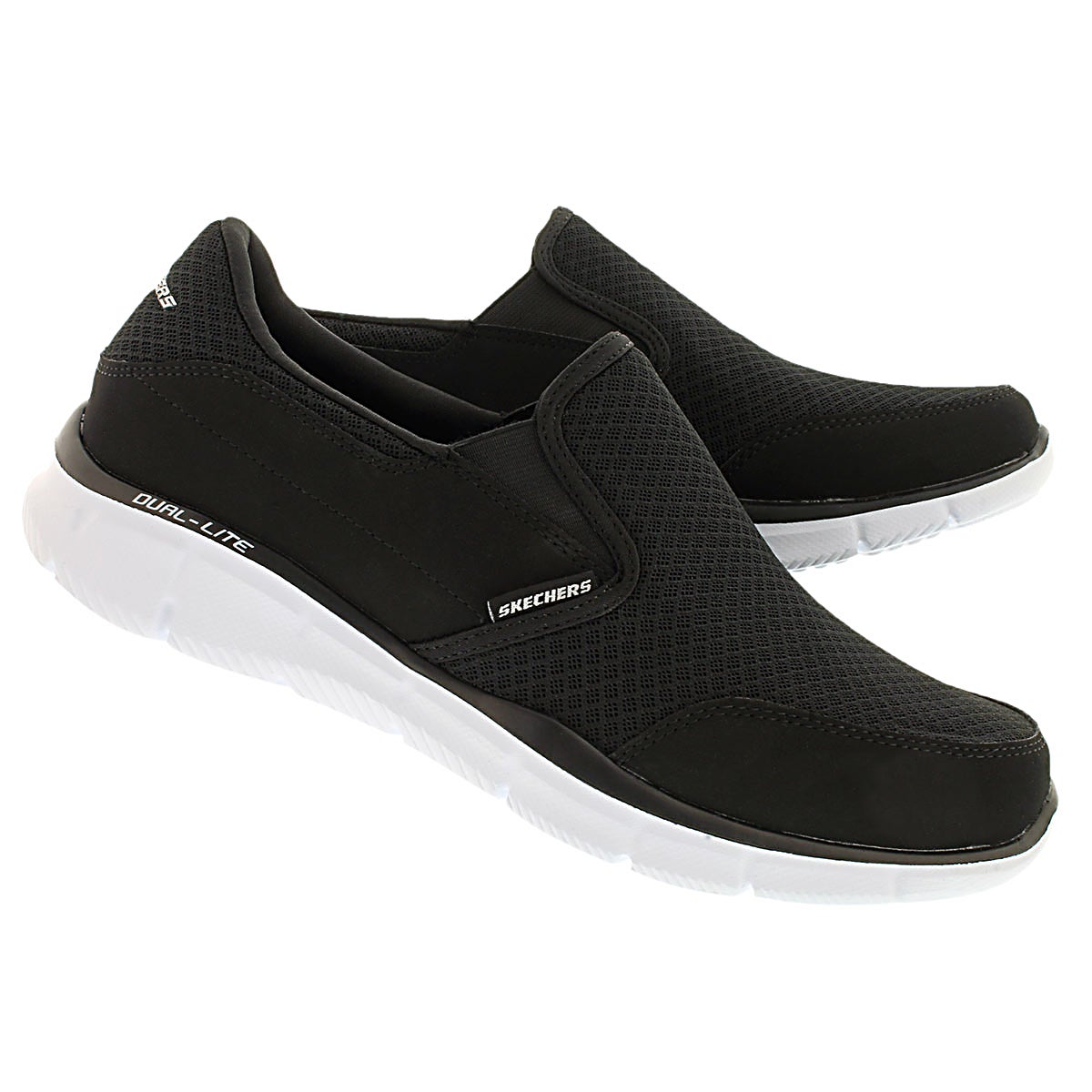 Mns Persistent blk/wht slip on sneaker
