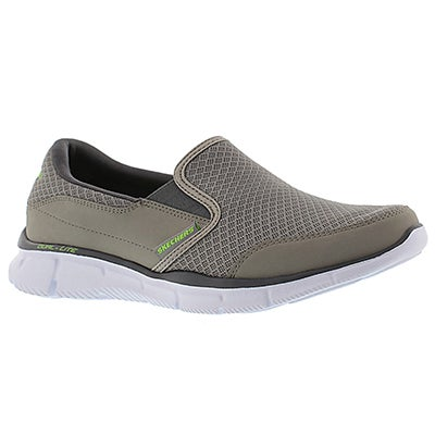 Skechers Men's PERSISTENT grey slip on sneakers