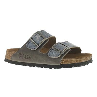 Birkenstock Men's ARIZONA tie dye grey 2 strap sandals