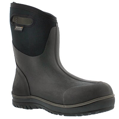Bogs Men's ULTRA MID black waterproof boots