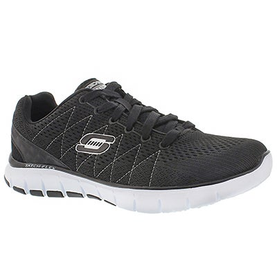 Skechers Men's SKECH-FLEX black/white lace-up sneakers