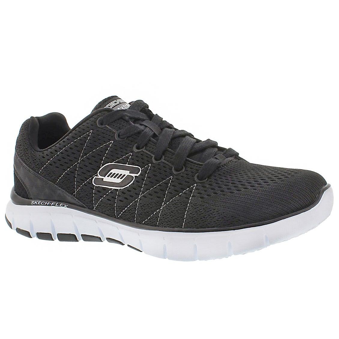 Mns Skech-Flex blk/wht lace up sneaker