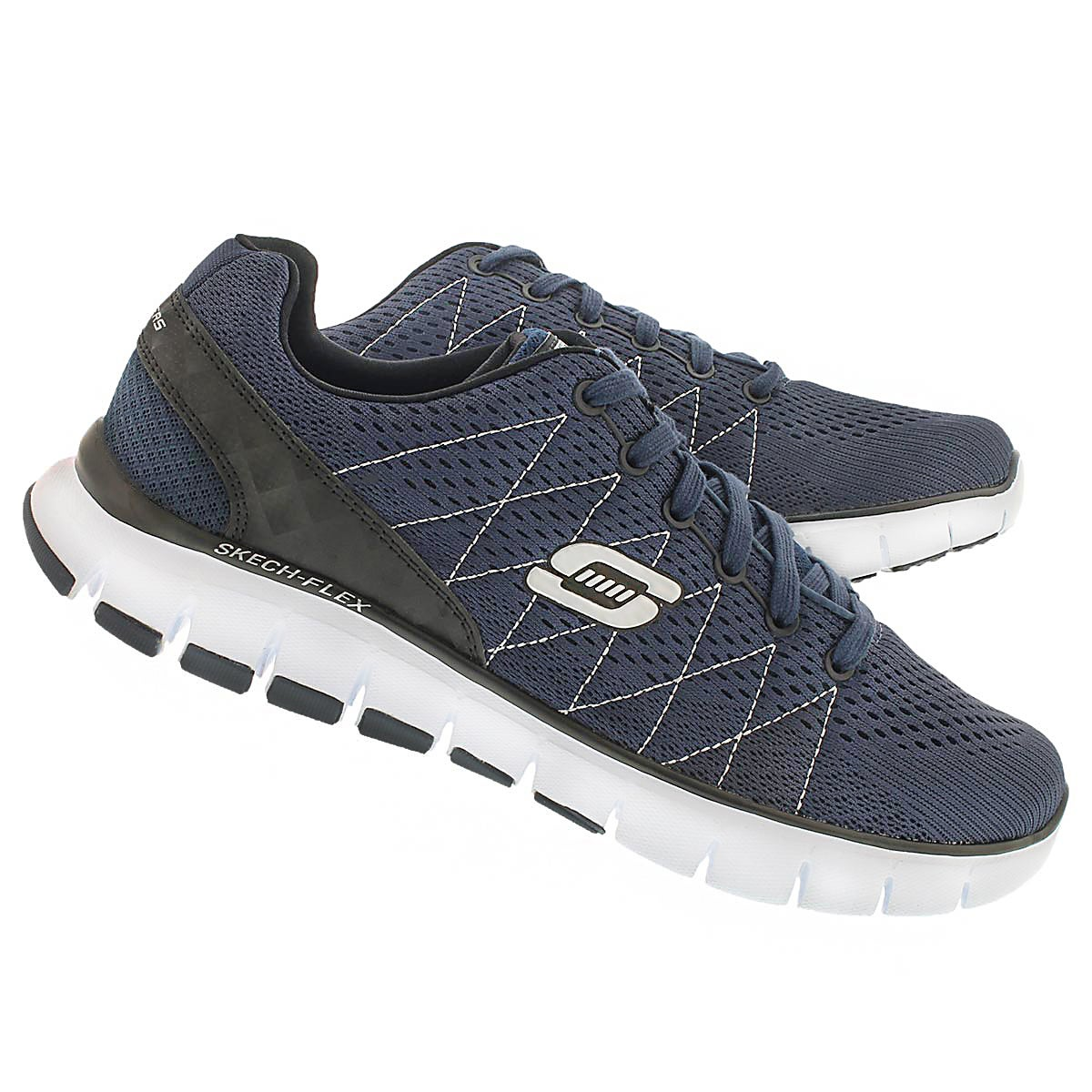 Mns Skech-Flex navy lace up sneaker