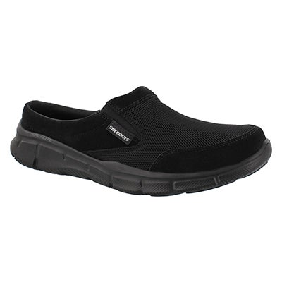 Skechers Men's COAST TO COAST black open back slip ons