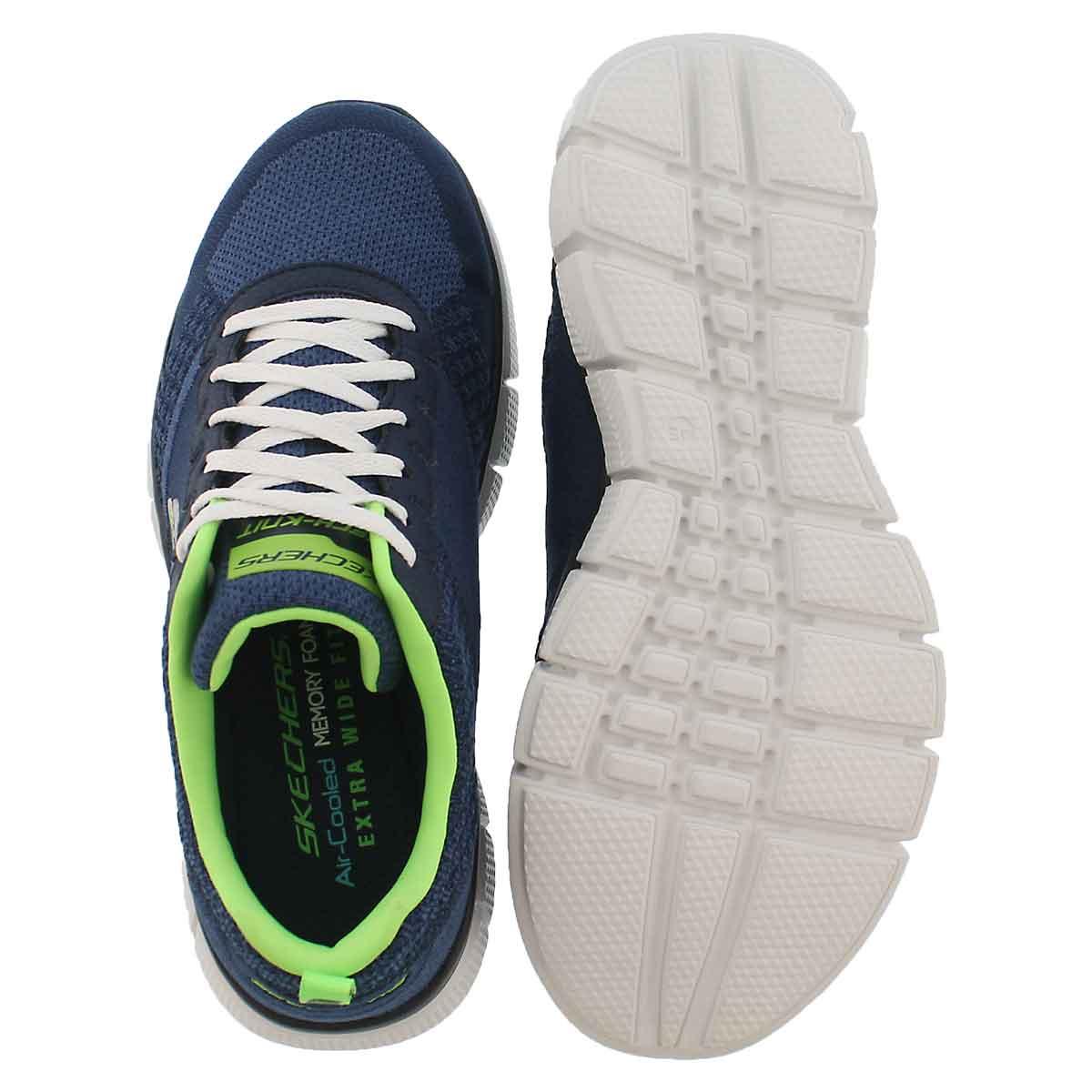 MnsTrue Balance nvy/lime running shoe-W