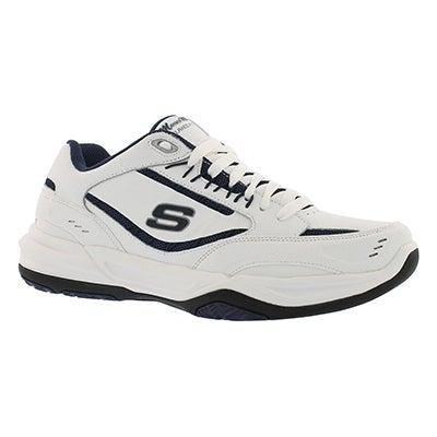 Mns Monaco wht/nvy lace up sneaker