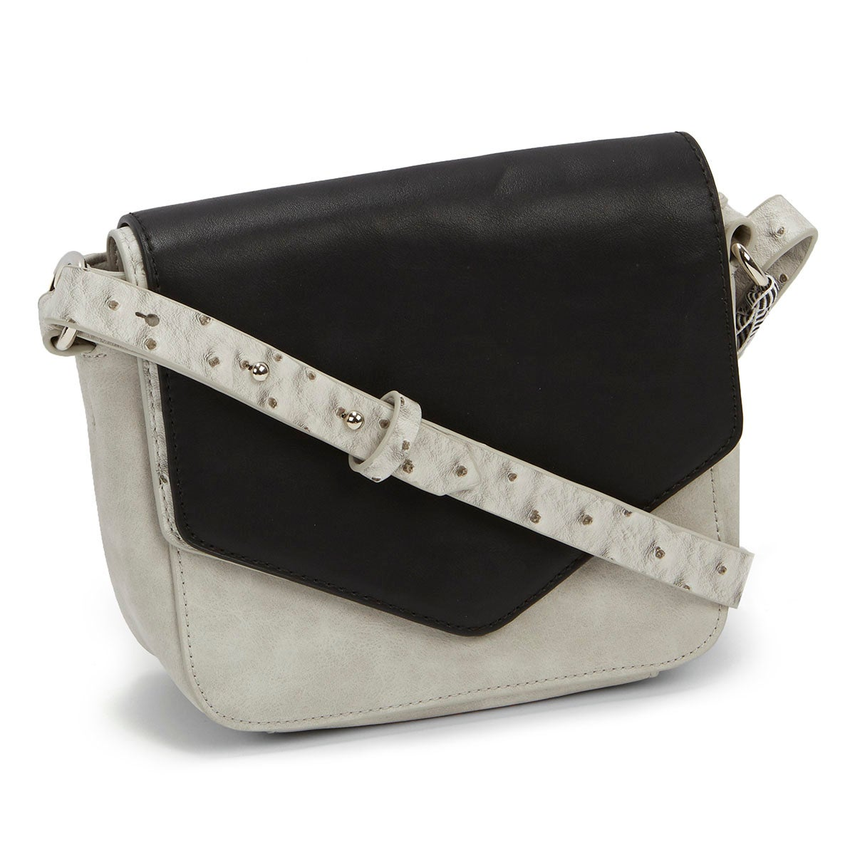 Lds Cosmopolitan gry/blk cross body bag