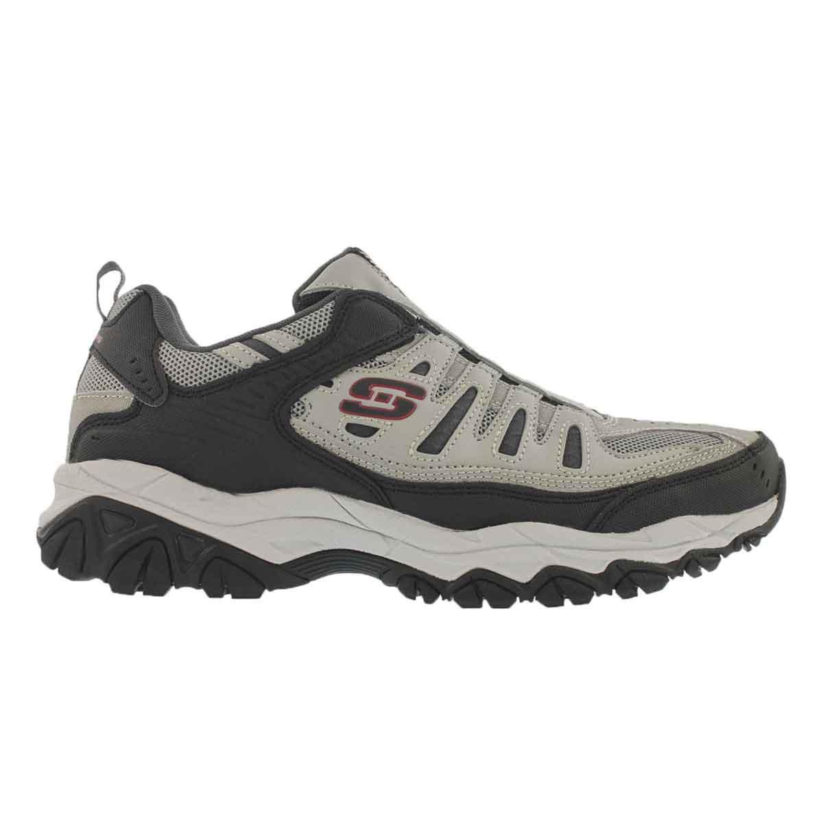 Mns After Burn gy/bk slip on sneaker