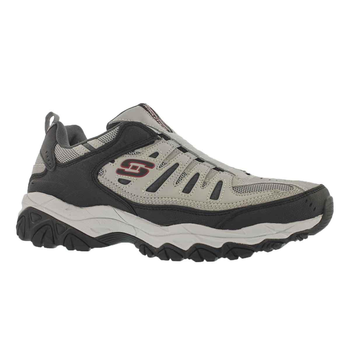 Men's AFTER BURN gy/bk slip on sneakers
