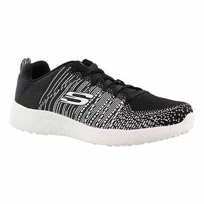 Skechers Men's BURST-IN THE MIX black running shoes