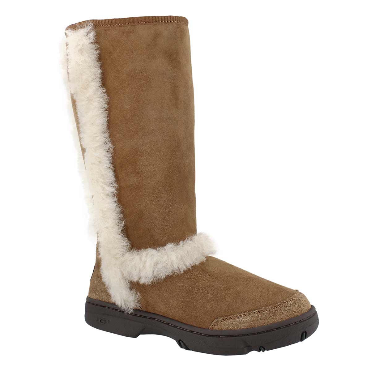 Lds Sunburst ches tall sheepskin boot