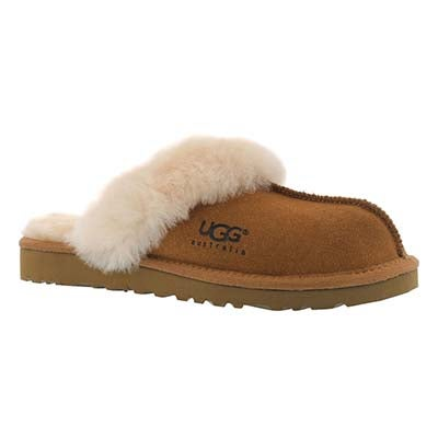 Grls Cozy chestnut sheepskin slipper