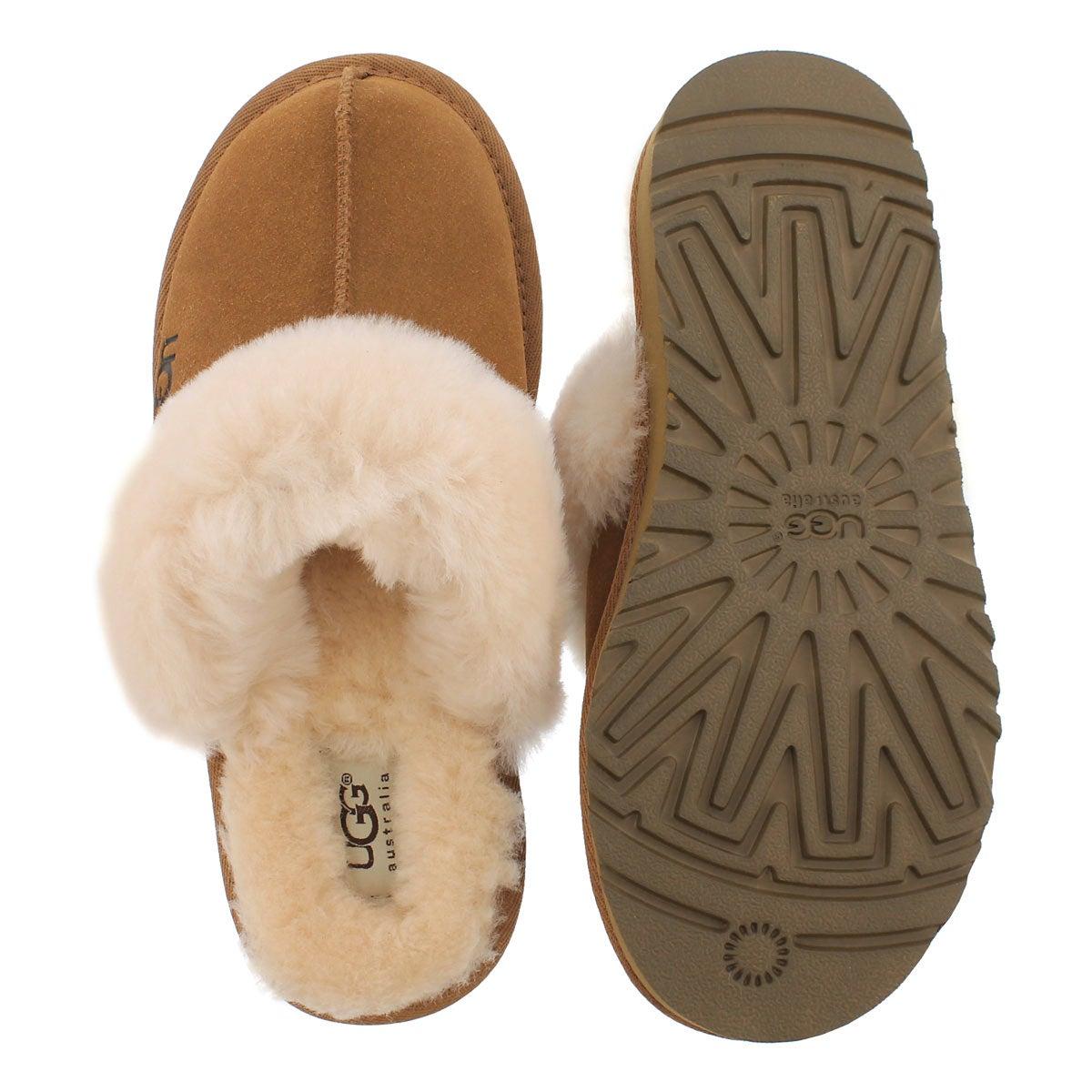 Grls Cozy chestnut sheepskin slipper