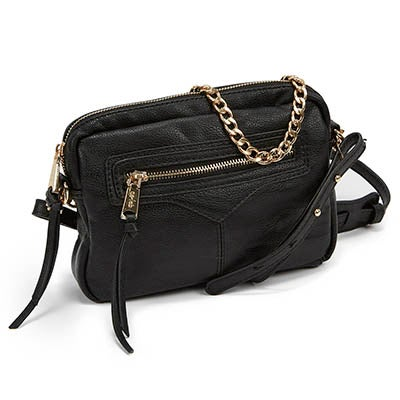 Co-Lab Women`s ZIP ZIP black cross body bag
