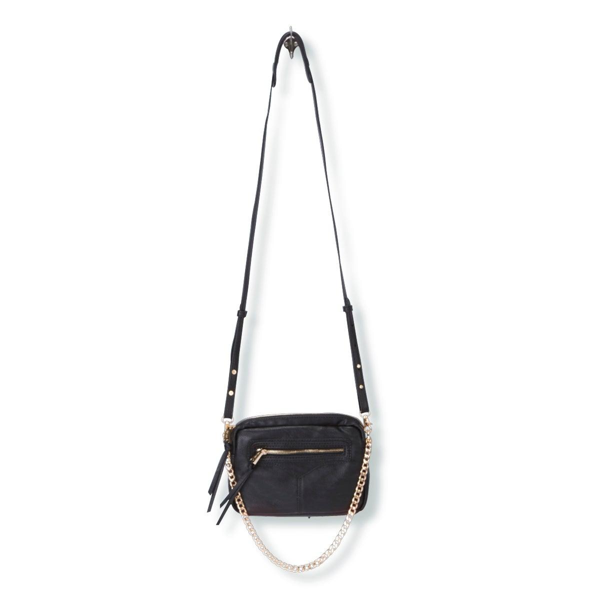 Lds Zip Zip black cross body bag