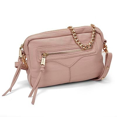 Co-Lab Women`s ZIP ZIP blush cross body bag