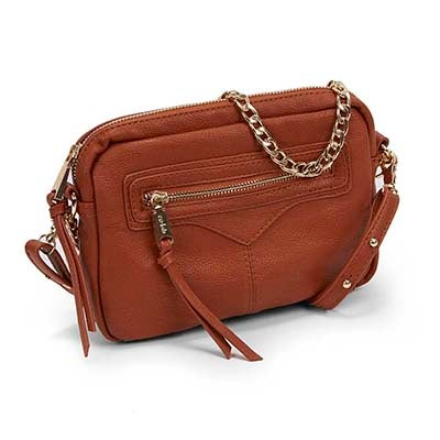 Co-Lab Women`s ZIP ZIP cognac cross body bag
