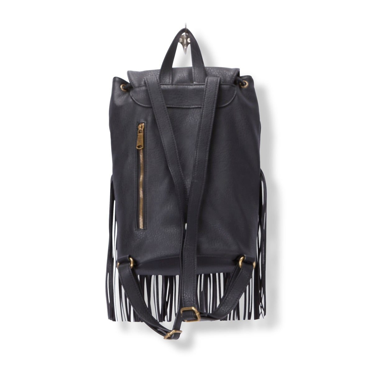 Lds Fringe Frenzy black backpack
