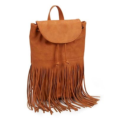 Co-Lab Women's FRINGE FRENZY camel backpack