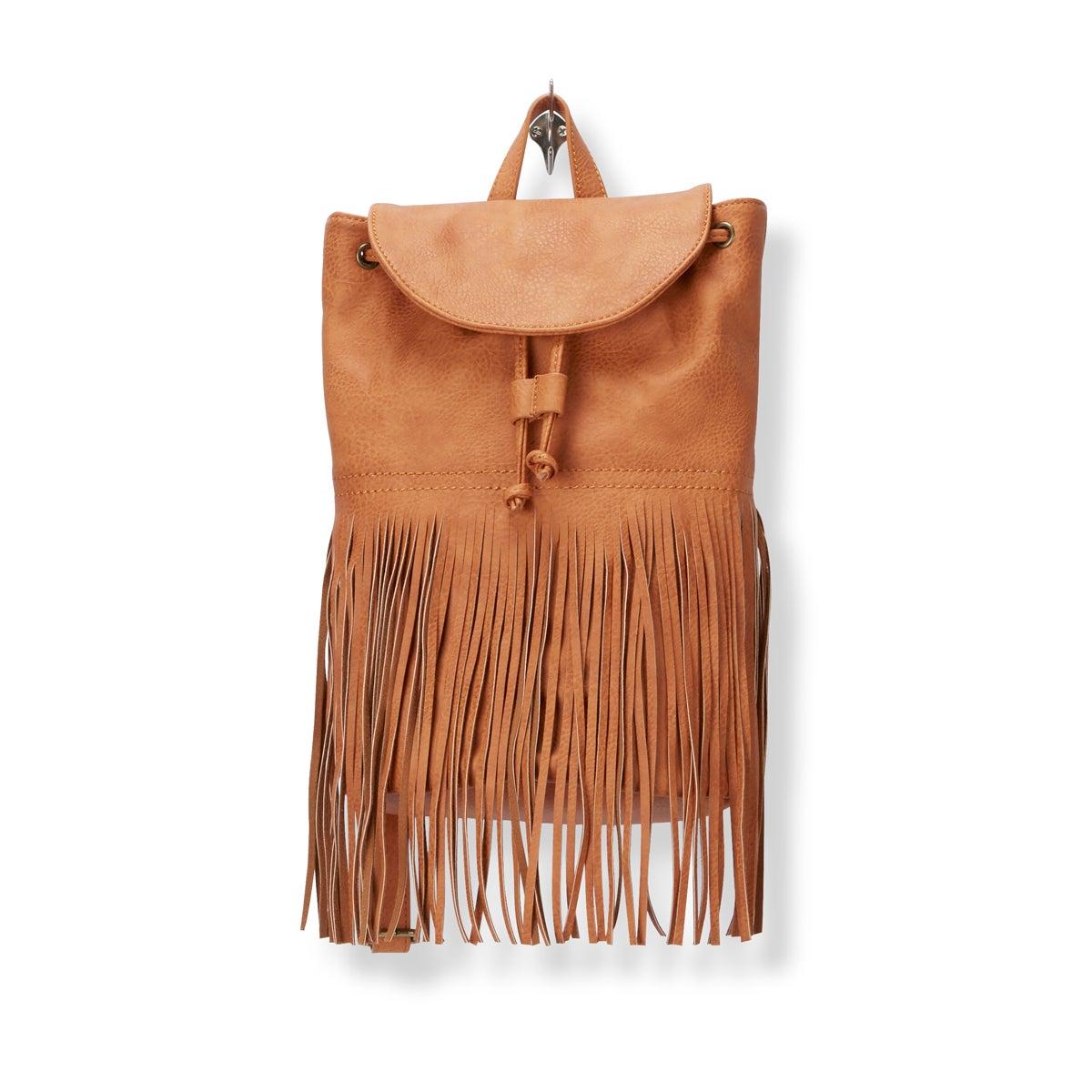 Lds Fringe Frenzy camel backpack
