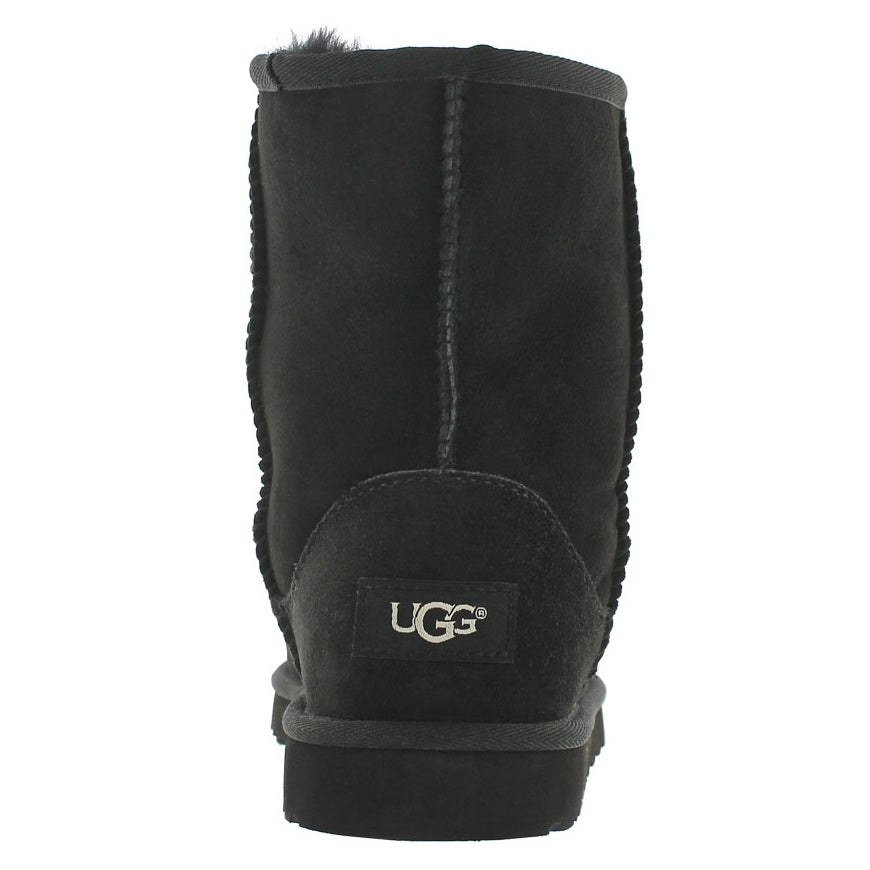 Grls Classic Short black sheepskin boot