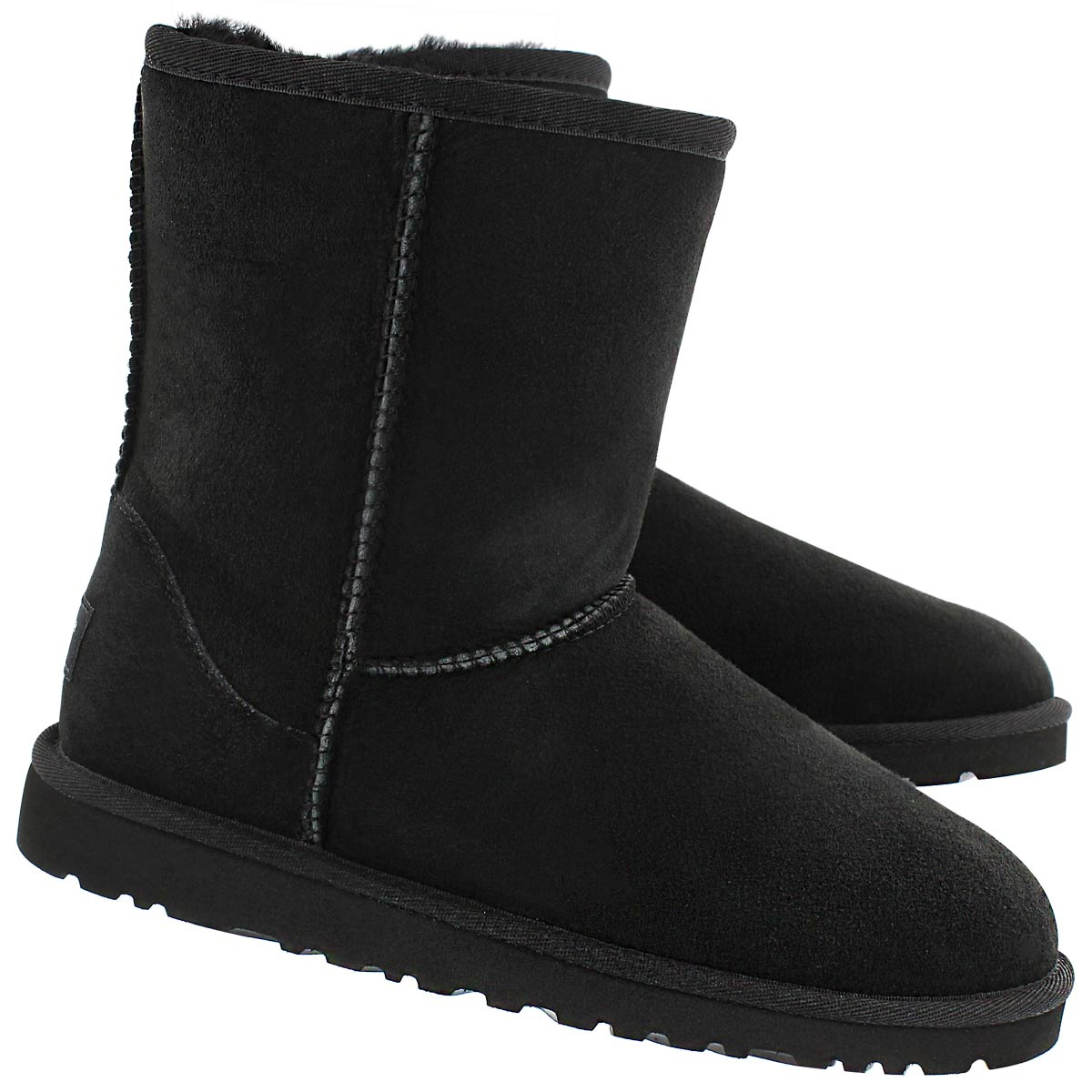 Grls Classic Short black sheepskin boot