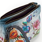 Printed leather Floral Fantasy conv.tote