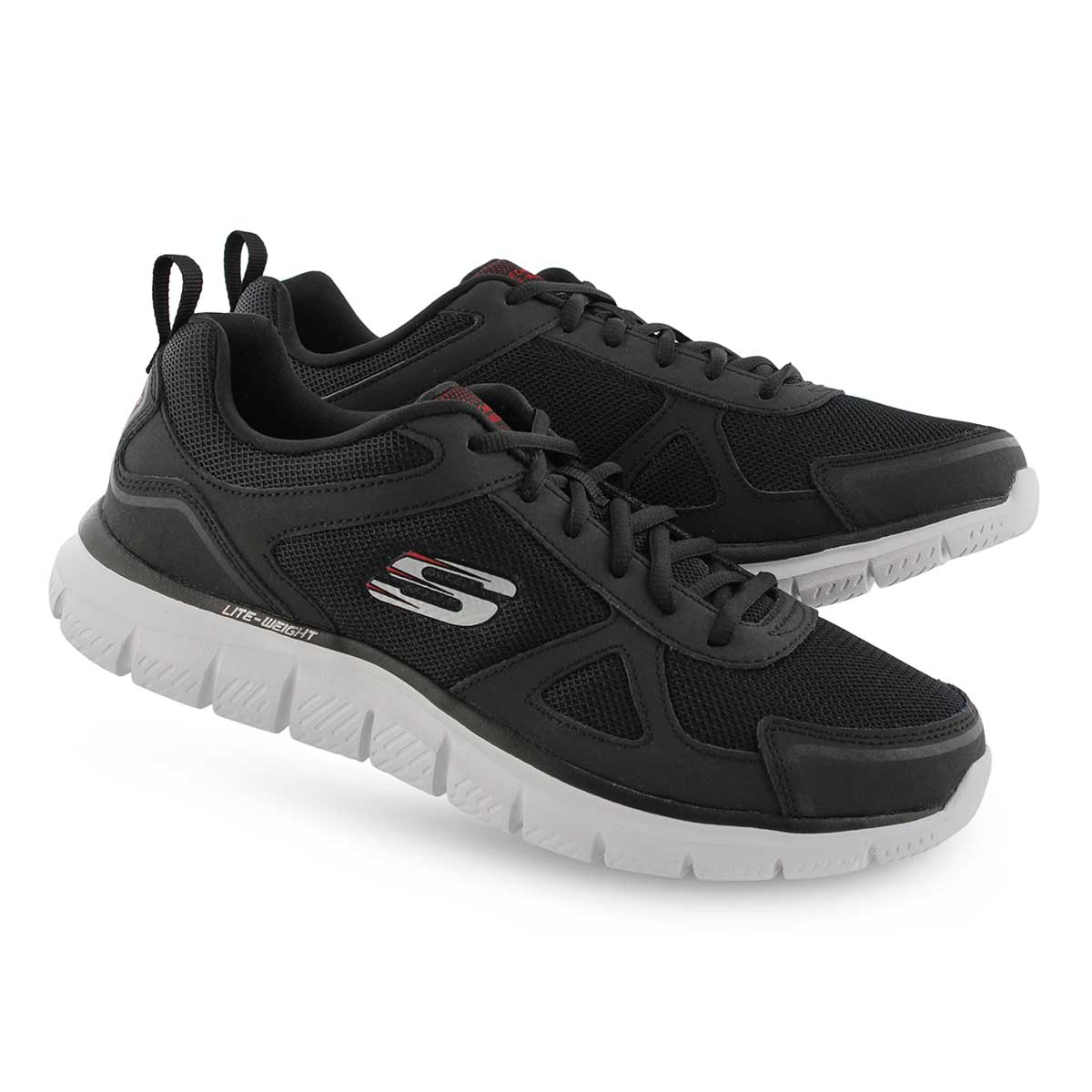 Mns Track Scloric blk/rd lace up snkr