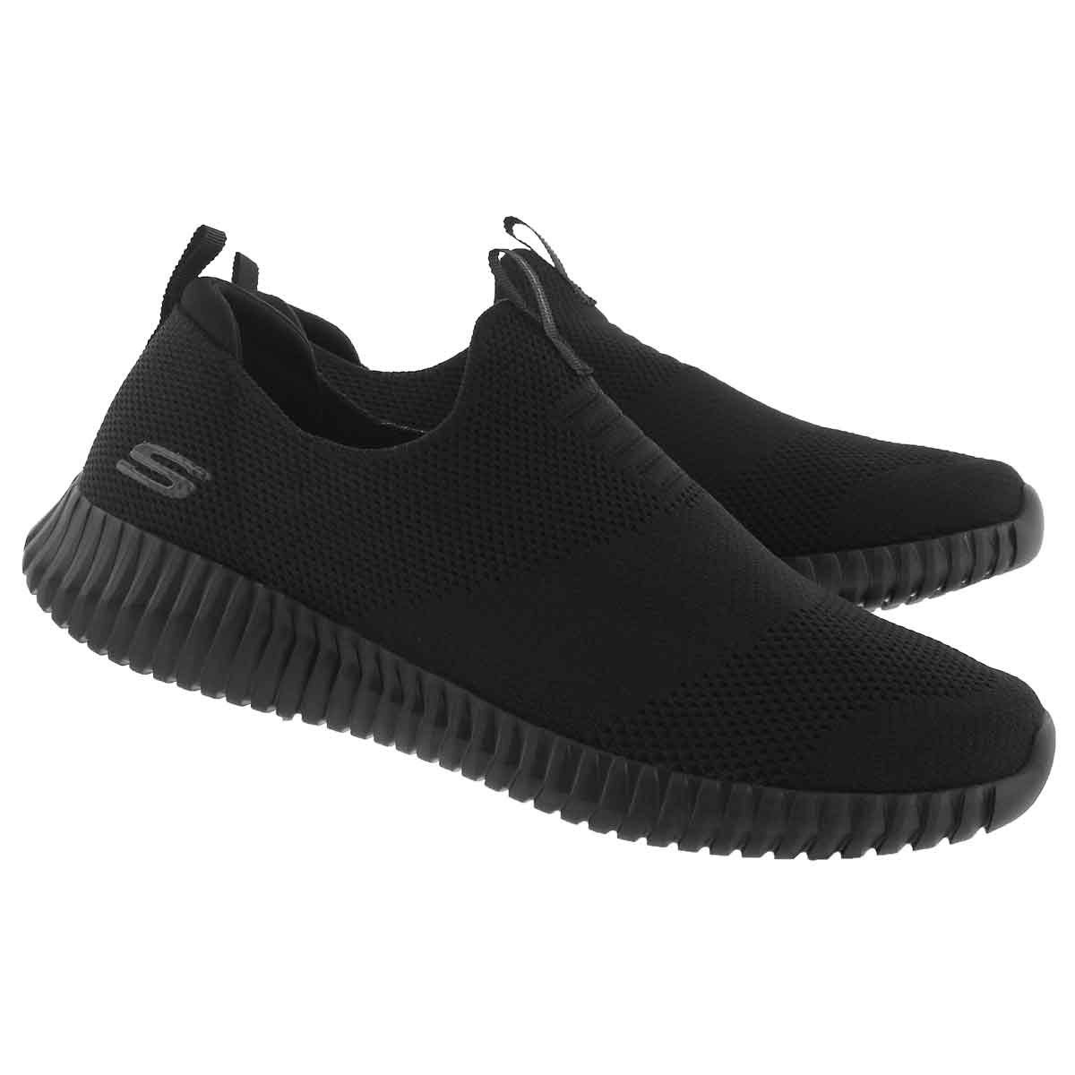 Mns Elite Flex Wasik black slip on shoe