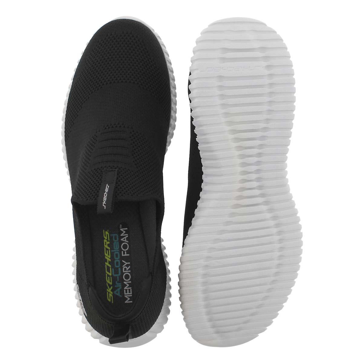 Mns Elite Flex Wasik blk/wt slip on shoe