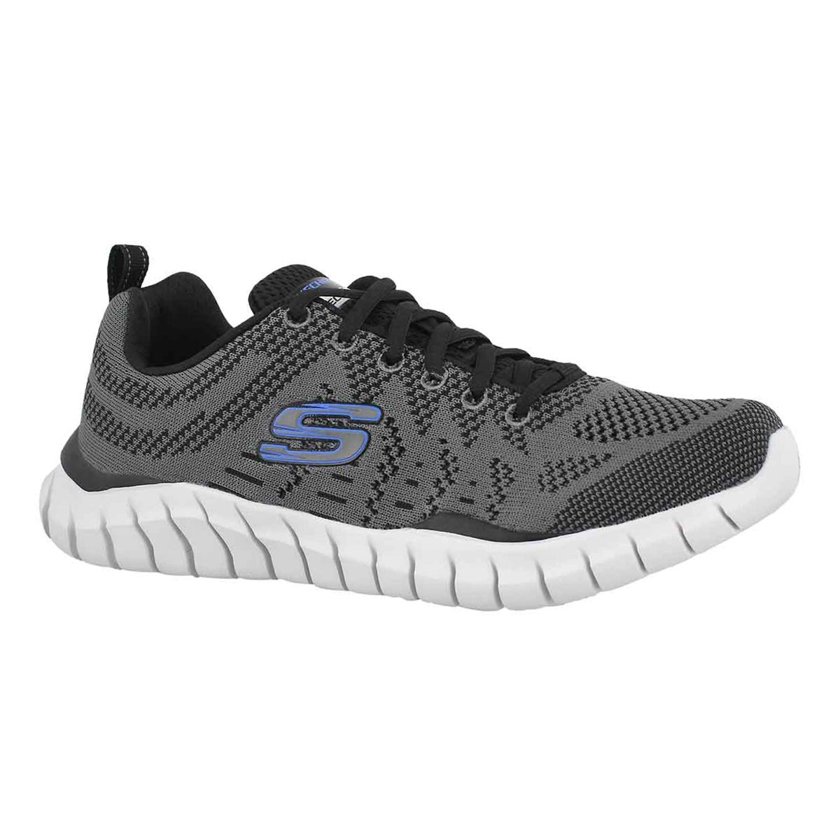 Men's OVERHAUL DEBBIR grey/black runner - Wide